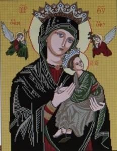 Схема Икона Богородица Неустанной Помощи