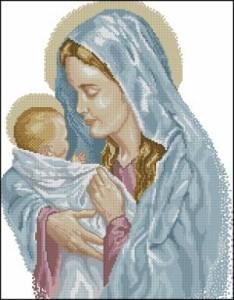 Схема Икона Мадонна с ребенком