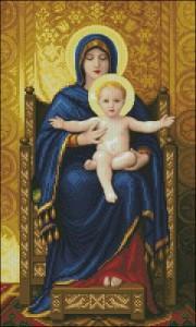 Схема Икона Вирджиния и сын на троне