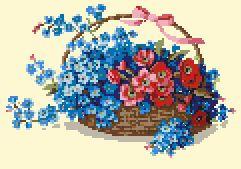 Схема Корзина с цветами
