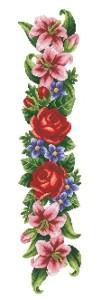 Схема Элегантные цветы (панель)