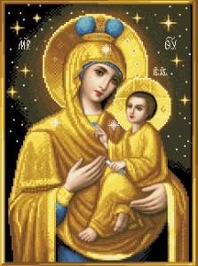Схема Икона Тихвинская Божья Матерь