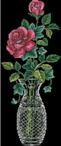 Схема Розы в вазе (панель)