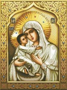 Схема Икона Божьей матери Умиление