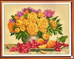 Схема Цветы с фруктами