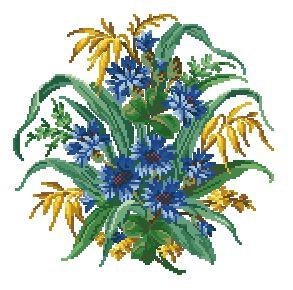 Схема Васильки / Cornflower Posy