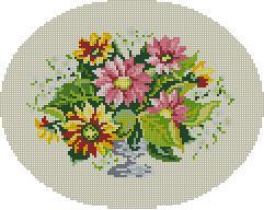 Схема Цветы в овале / Wiehler 3524-2