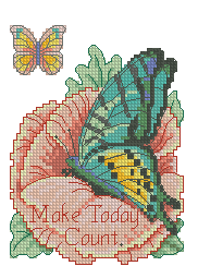 Схема Бабочка на мальве