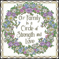 Схема Прочный венок / Dimensions Circle of Strenght