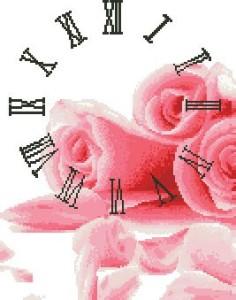 Схема Розы с часами (триптих) Часть 1