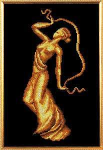 Схема Танцовщица с лентами