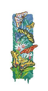 Схема Цветные бабочки (панно)