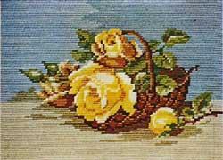 Схема Жёлтые розы / Wiehler 1825 Yellow Roses