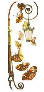 Схема Бабочки и фонарь (по мотивам вышивки Романтика)