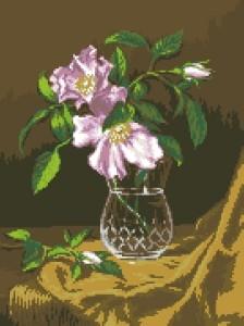 Схема Боярышник / G 712 Natura cu flori de maces