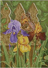 Схема Бабочка и ирисы
