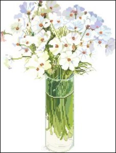 Схема Цветы в стакане