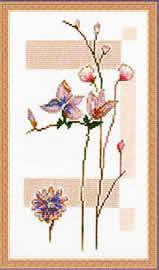 Схема Нежные цветы
