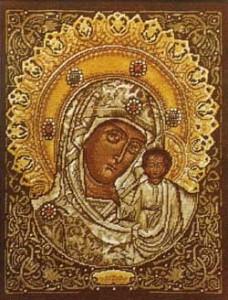 Схема Икона Казанская
