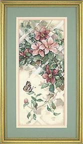 Схема Бабочка и клематис / Butterfly & Clematis