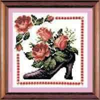Схема Туфельки Розовый каприз