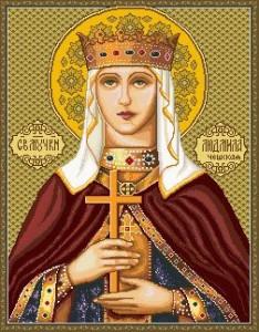 Схема Икона Святая Людмила