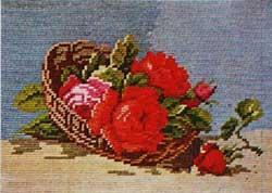 Схема Корзина с розами / Wiehler 1824-5 Basket of Roses