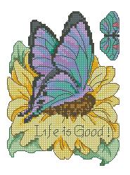 Схема Бабочка на подсолнухе