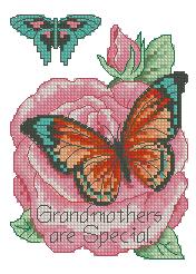 Схема Бабочка на розе