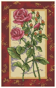 Схема Розовое великолепие