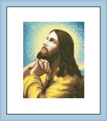 Схема Икона Молитва Христа