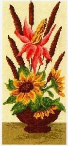 Схема Цветы в вазе / Vaza Slanchogledi