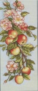 Схема Цветы и яблоки