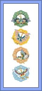Схема Бабочки в орнаменте