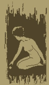 Схема Девушка с шариком