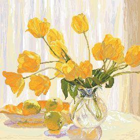 Схема Желтые тюльпаны