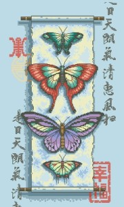Схема Полет бабочек / Butterfly Scroll