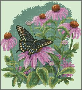 Схема Бабочка на ромашке