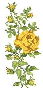 Схема Желтая роза 30150