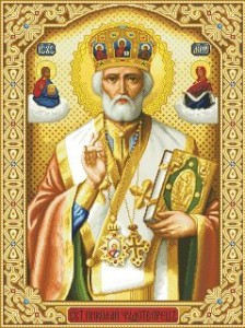 Схема Икона Святой Николай арх.Мир Ликийский