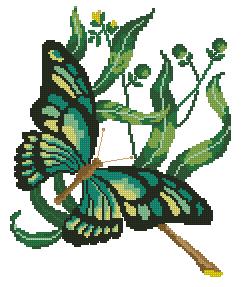 Схема Зеленая бабочка