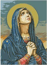 Схема Икона Молитва девы