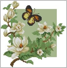 Схема Весна и бабочки
