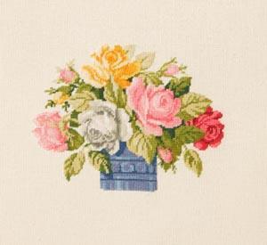 Схема Ваза с разноцветными розами / Wiehler 3670-2 Vase with Brightly Coloured Roses