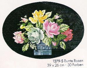 Схема Красочные розы / Wiehler 1279-5 Bunte Rosen