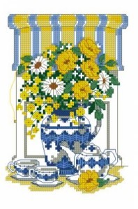 Схема Цветочное время чая / Teatime floral