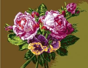 Схема Розы и анютины глазки