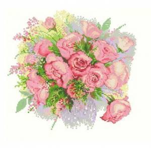 Схема Акварельные розы