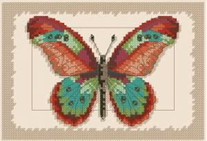 Схема Бабочка и листья / Butterfly And Leaves