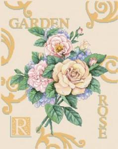 Схема Розарий / Rose Garden Cuttings